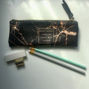 Other - Faux leather pencil case